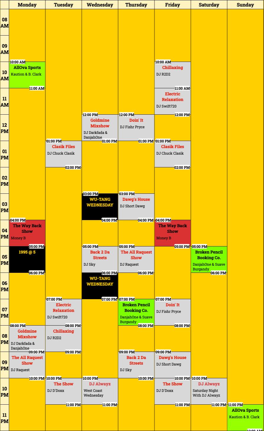 Schedule (1)